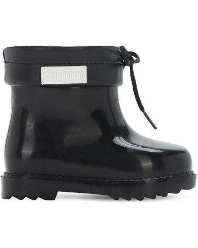 Ze sznurkiem do ściągania czarny buty z brokatem Mini Melissa