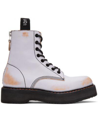 Черные ботинки на каблуке на платформе R13