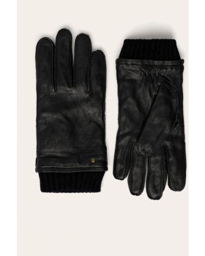Черные акриловые кожаные перчатки Medicine