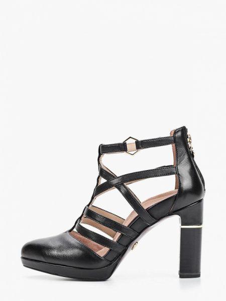 Кожаные туфли черные Heart & Sole By Tamaris