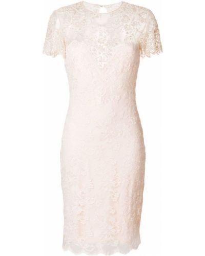 Приталенное розовое платье Olvi´s