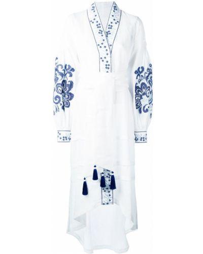 Платье с вышивкой льняное Yuliya Magdych
