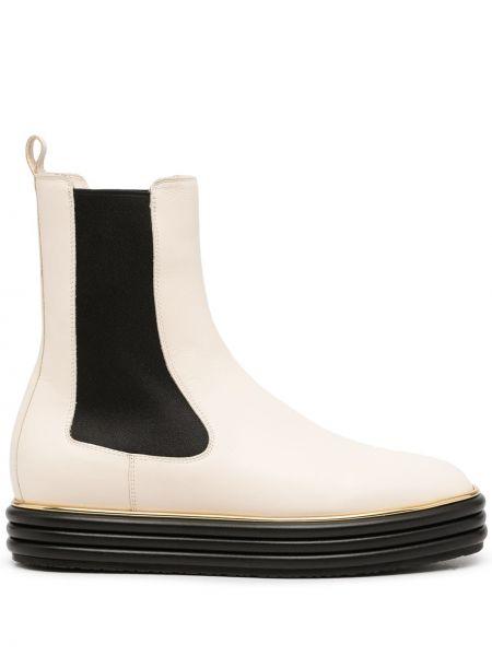 Белые резиновые ботинки Bally