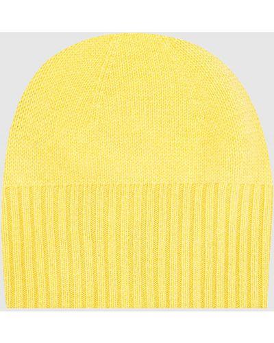 Кашемировая желтая шапка Allude