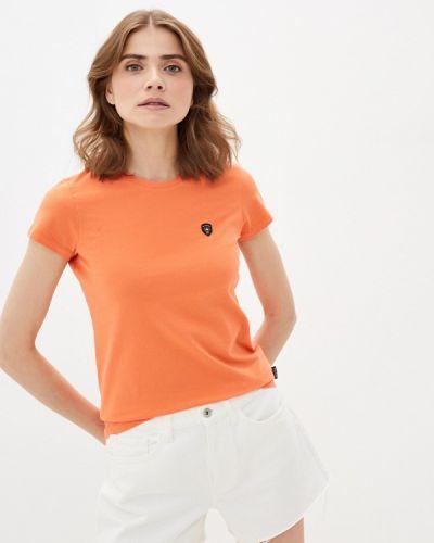 Оранжевая футболка с короткими рукавами Galvanni