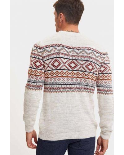 Бежевый свитер с вырезом круглый Defacto