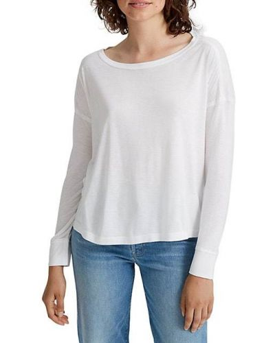 Белая футболка с длинными рукавами из вискозы Club Monaco