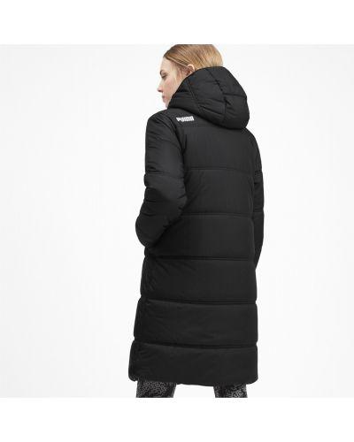 Черная куртка длинная Puma