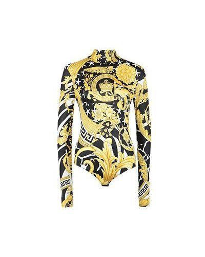 Боди желтый Versace