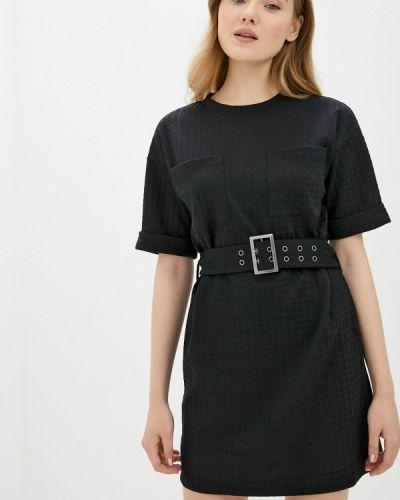 Черное прямое платье Noisy May