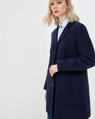 Синее пальто с капюшоном United Colors Of Benetton