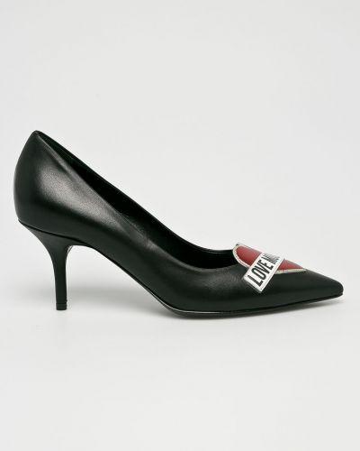 Туфли на высоком каблуке кожаные на каблуке Love Moschino