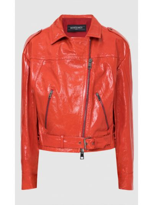 Красная кожаная куртка Simonetta Ravizza