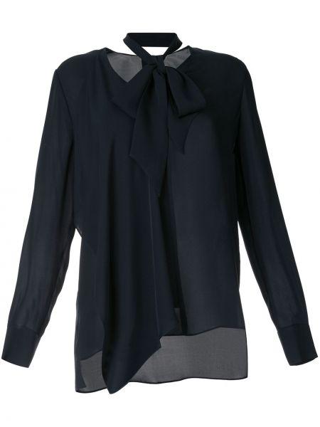 Czarna bluzka z długimi rękawami asymetryczna Elie Tahari