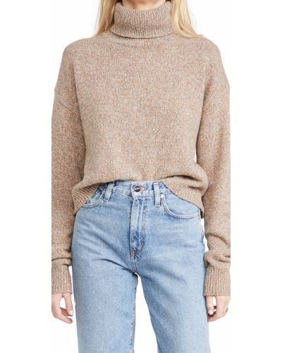 Prążkowany pulower wełniany z długimi rękawami Tibi