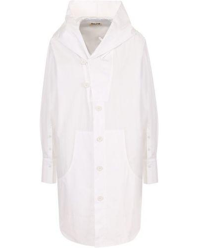 Блузка с длинным рукавом с капюшоном свободного кроя Yohji Yamamoto