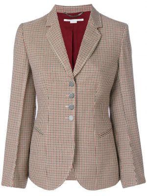 Шерстяной приталенный удлиненный пиджак с карманами Stella Mccartney
