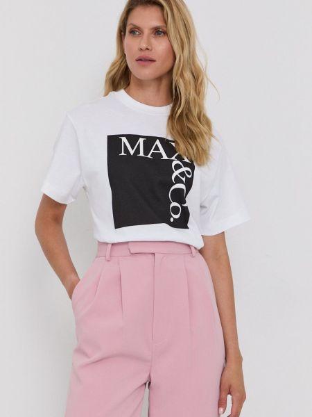 Хлопковая футболка Max&co