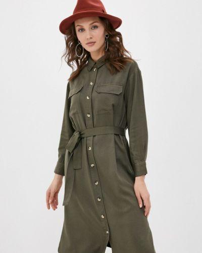 Платье - зеленое Pieces