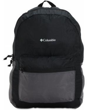 Нейлоновый черный рюкзак на бретелях с карманами Columbia
