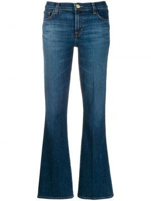 Синие расклешенные брюки с поясом на молнии J Brand