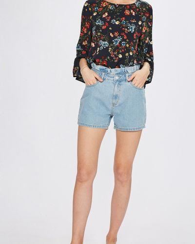 Джинсовые шорты с завышенной талией с оборками Jacqueline De Yong