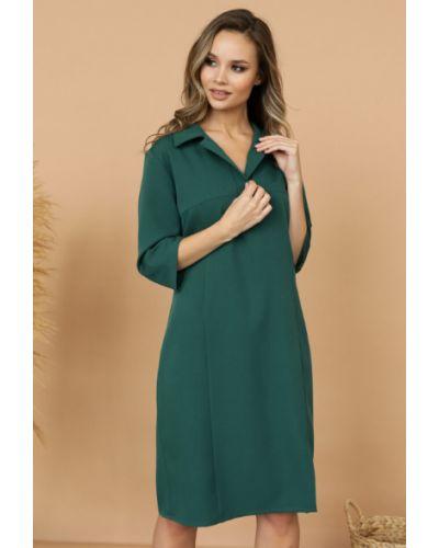 Деловое свободное с рукавами платье-рубашка Ellcora