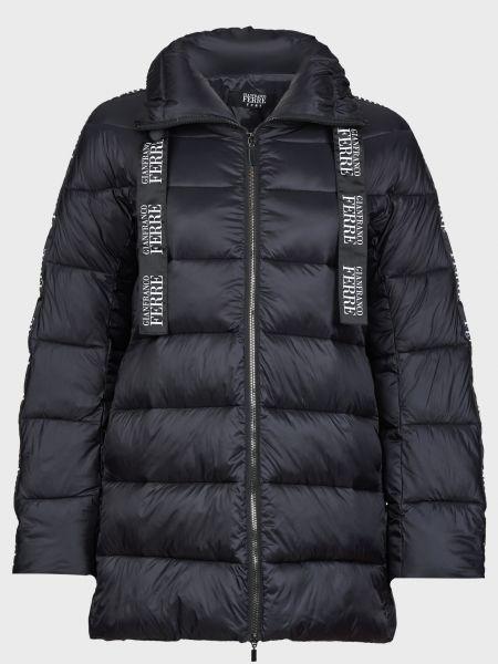 Черная куртка на молнии с подкладкой Gianfranco Ferre