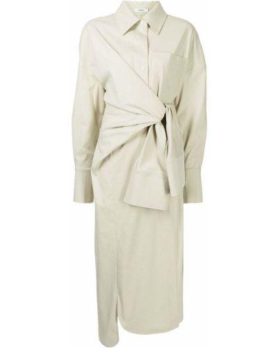 Хлопковое платье миди - коричневое Goen.j