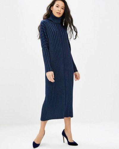 Платье осеннее синее Milanika