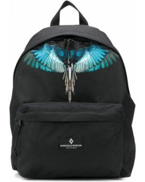 Рюкзак черный с заплатками Marcelo Burlon County Of Milan Kids