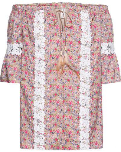 Блузка кружевная с цветочным принтом Bonprix