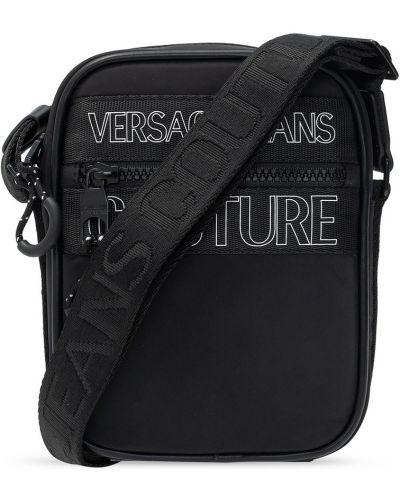 Czarna torba na ramię Versace Jeans Couture