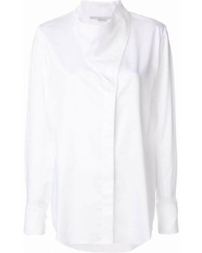 Рубашка с длинным рукавом асимметричная без воротника Stella Mccartney