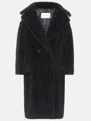 Шерстяное черное пальто Max Mara