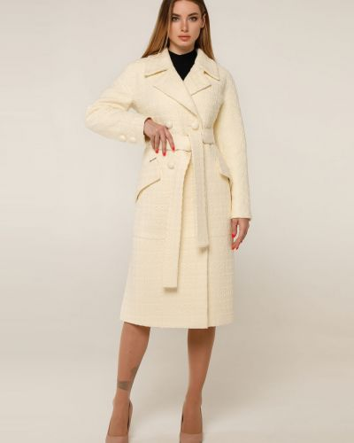 Шерстяное пальто - белое Favoritti