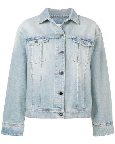 Синяя джинсовая куртка с манжетами на пуговицах Toteme