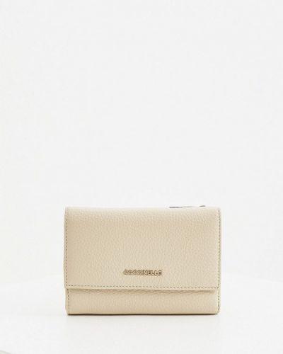 Серый кожаный кошелек Coccinelle