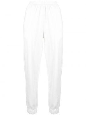 Спортивные хлопковые белые спортивные брюки с поясом Sir.