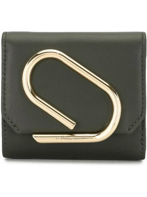 Skórzany portfel skórzany złoto z kieszeniami z gniazdem 3.1 Phillip Lim