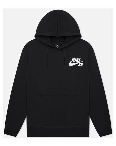 Черная хлопковая толстовка Nike Sb