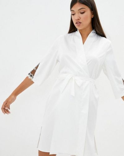 Кружевной домашний белый халат Komilfo
