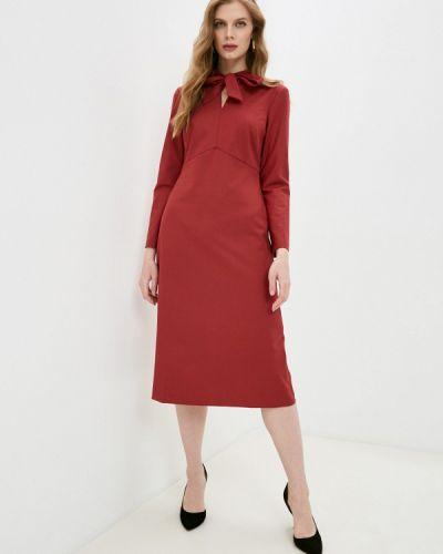 Красное платье-футляр Villagi