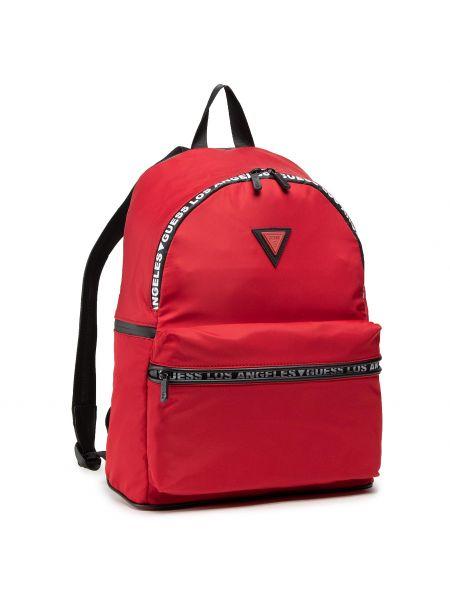 Czerwony torba sportowa Guess