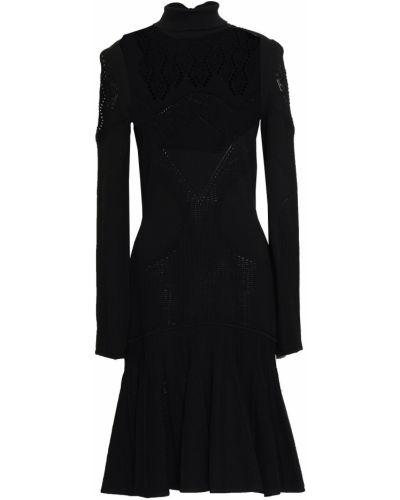 Шерстяное платье - черное Roberto Cavalli