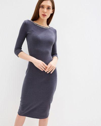 Платье серое прямое Imago