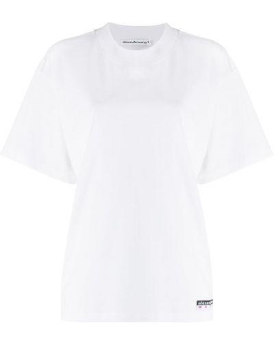 Рубашка с коротким рукавом белая в полоску T By Alexander Wang