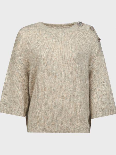 Бежевый шерстяной свитер Ba&sh