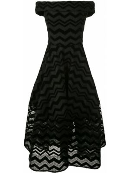 Платье мини миди с открытыми плечами Christian Siriano