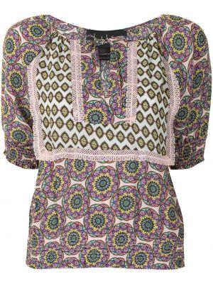 Шелковое платье с короткими рукавами Nicole Miller